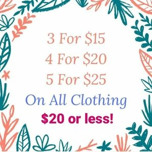 Hello August Sale!! ANYTHING $20 and Under!